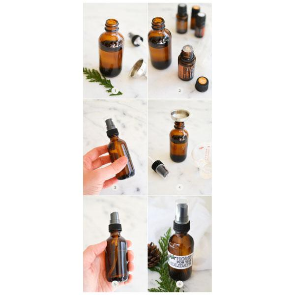 DIY Essential Oil Holiday Spray for Rooms and Linens