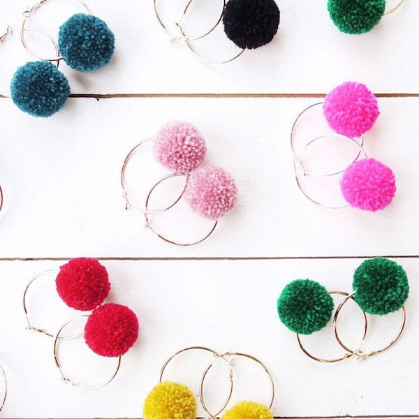 Pom-Pom Earrings Tutorial
