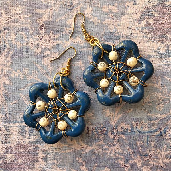 Upcycled Earrings by CM Design