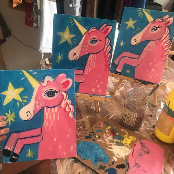 Weirdo Painting Class: Whimsical Unicorn